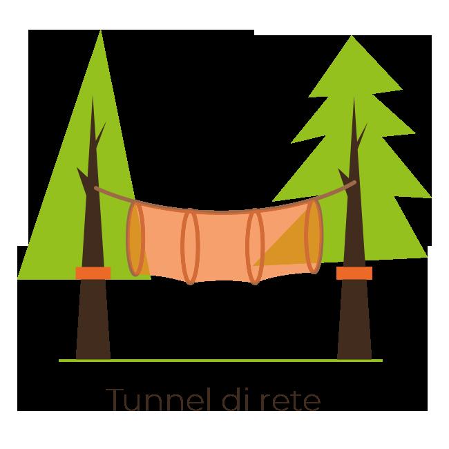 ARBOREA - Costruzione Parchi Avventura | Tunnel di Rete